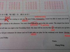 高中英语改错题答题步骤及规则
