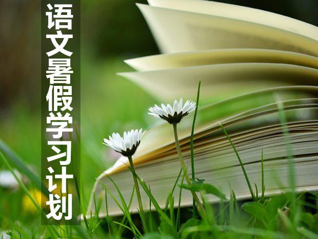 初中语文暑假学习计划,暑假语文学习计划怎么写