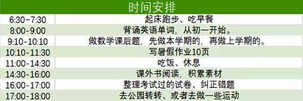 初中英语暑假学习计划,如何制定暑假英语学习计划